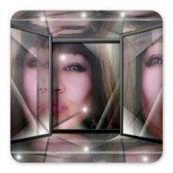 Mirrors - Square plastic magnet
