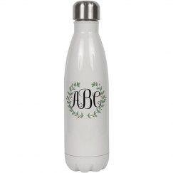 Trendy Custom Initials Water Bottle