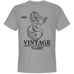 Vintage Mermaid Birthday shirt