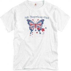 All American Girl Butterfly  white