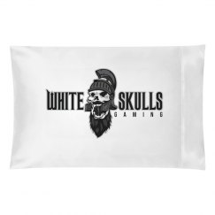 White Skulls Gaming Pillow Case
