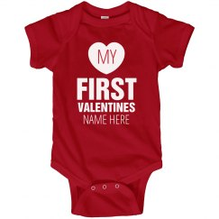 Baby's First Valentine's Day Onesie