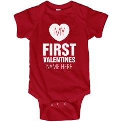 Baby's First Valentine's Day Onesie