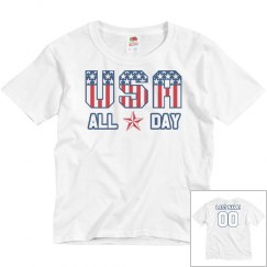 USA All Day Matching Family Youth Tee