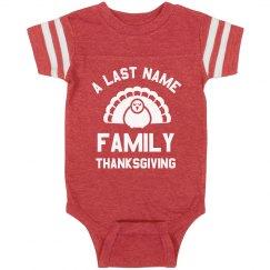 Custom Baby's Family Thanksgiving