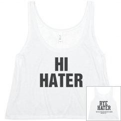 Hater crop top