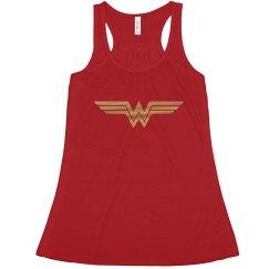 Simple Gold Metallic Wonder Woman