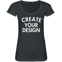 Design a Custom Scoopneck Tee