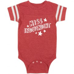 Miss Independence Day Onesie