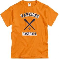 Adult Warriors Bat Logo