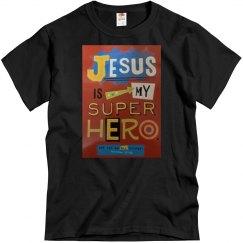 Black tee w/Jesus verbiage graphic