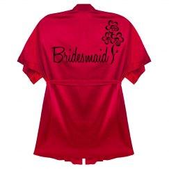 Red Bridesmaid Robe