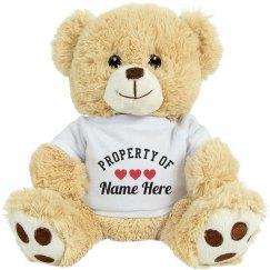 Custom Property Of Love Bear