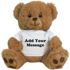 Custom Message Valentine Bear Gift