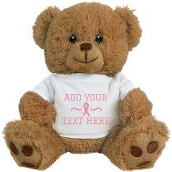 Sweet And Cuddly Custom Breast Cancer Bear