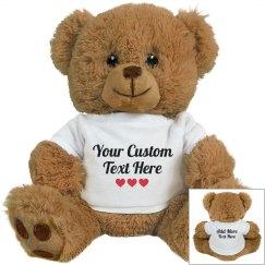 Custom Text Gift Bear