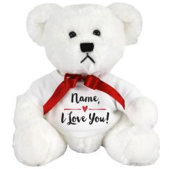 Custom Name I Love You Bear