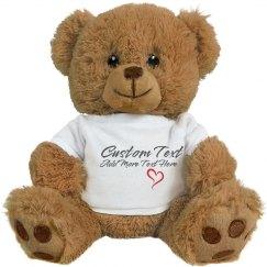 Custom Message Bear