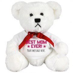 Best Mom Custom Text Bear