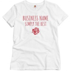 Custom Business Tee with Rose