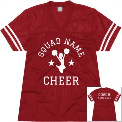 Personalized Cheer Coach Jerseys