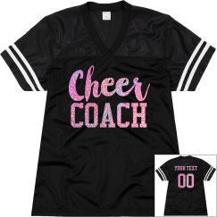 Cheer Coach Custom Glitter Text