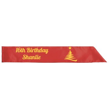 16th Birthday Party Sash