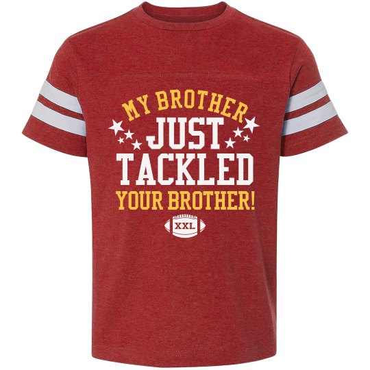 Football Brother Tackle Youth Vintage Sports T-Shirt 03e25db77