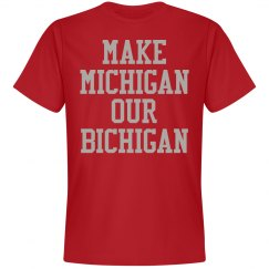 Michigan Bichigan Red Tee
