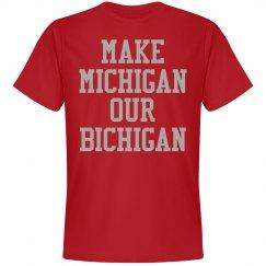 Michigan Bichigan Red Tee