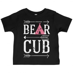 Bear Cub Toddler Girls Tee