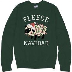 Fleece Navidad Christmas Sweater