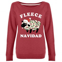 Cute Fleece Navidad Ladies Xmas