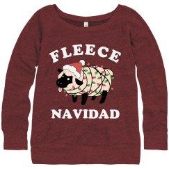 Fleece Navidad Ugly Xmas Sweater