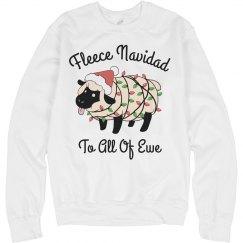 Fleece Navidad Christmas Pun Gift
