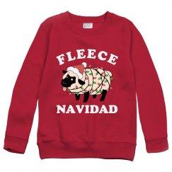 Fleece Navidad Kids Xmas Sweater