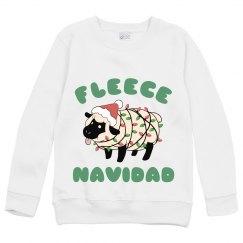 Kids Ugly Sweater Fleece Navidad