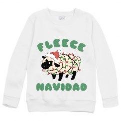 Kids Ugly Sweater Fleece Navidad