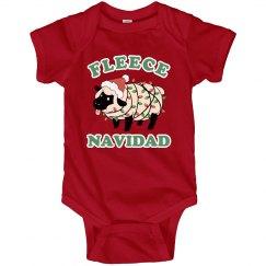 Fleece Navidad Christmas Baby