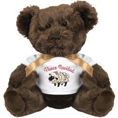 Fleece Navidad Cute Xmas Gift Bear