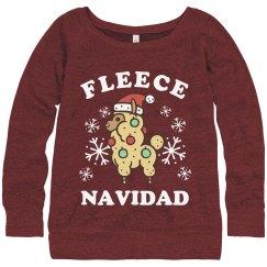 Fleece Navidad Christmas Llama