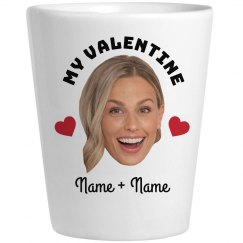 Matching Custom Photo Valentine Shot Glass