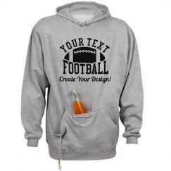 Your Text Football Custom Hoodie