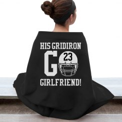 The Warm and Cozy Football Girlfriend Custom Blanket