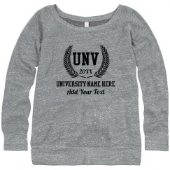 Custom University Name Sweater