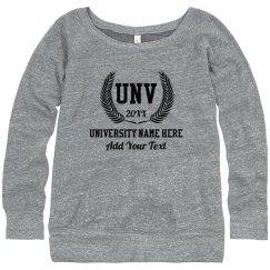 Custom University Name Sweater