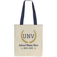 Custom Initials University Tote