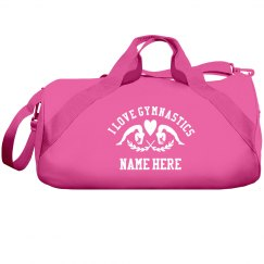 I Love Gymnastics Custom Name Gift