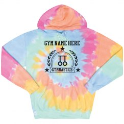 Custom Name Gymnastics Tie-Dye Hoodie