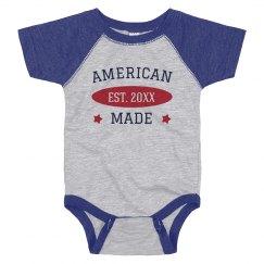 American Made Custom July 4th Baby
